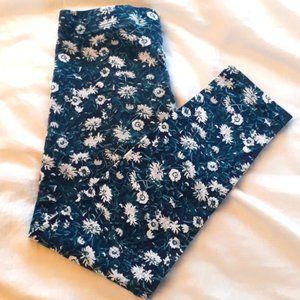Girls Size 5 Black and Floral Leggings Joe Fresh